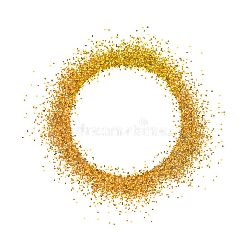 Stock vector illustration gold sparkles on white background. Gold glitter background. Golden backdrop for card, vip, exclusive, royalty free illustration