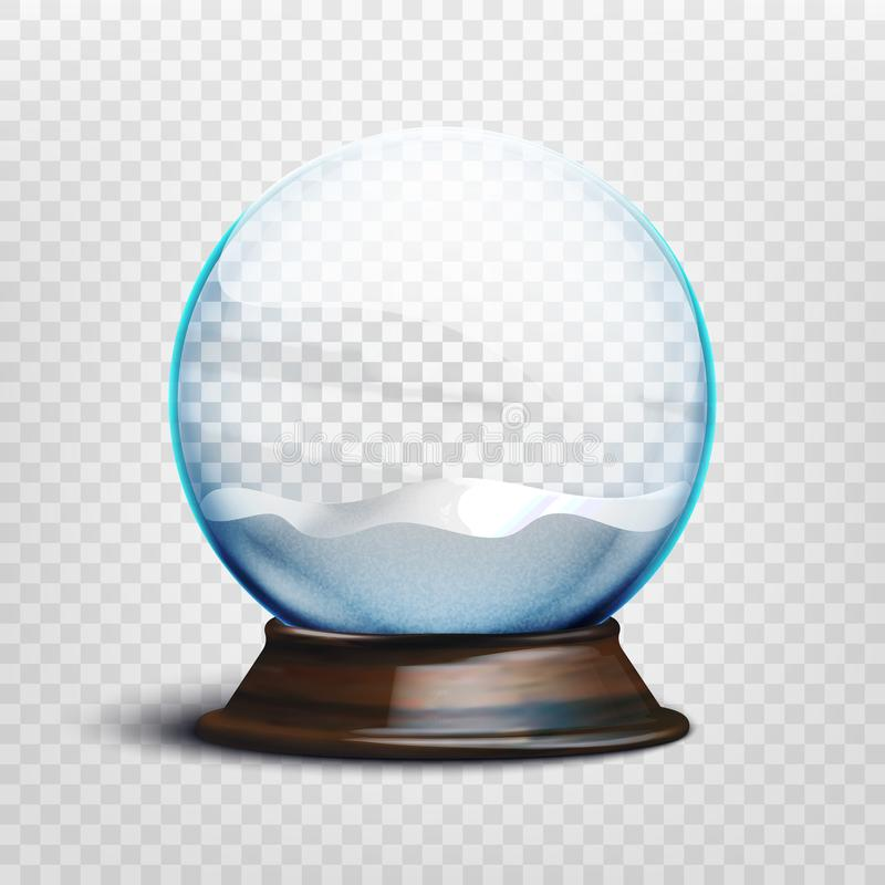 Free Stock Vector Illustration Realistic Empty Christmas Snow Globe Isolated On A Transparent Background. EPS 10 Royalty Free Stock Image - 121066986