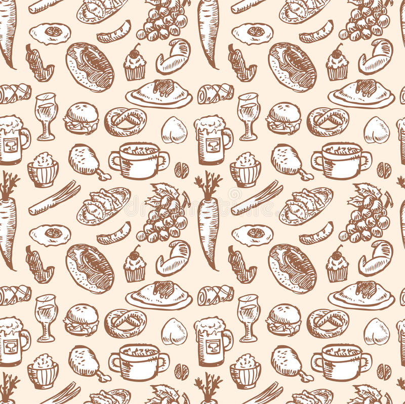 Stock Vector Illustration: seamless food pattern royalty free illustration