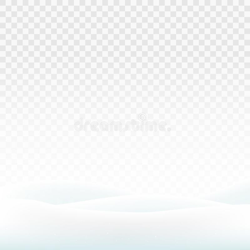 Stock vector illustration snowdrifts isolated on a transparent background. White snow. Snowy hills. The dunes of snow. EPS 10 royalty free illustration