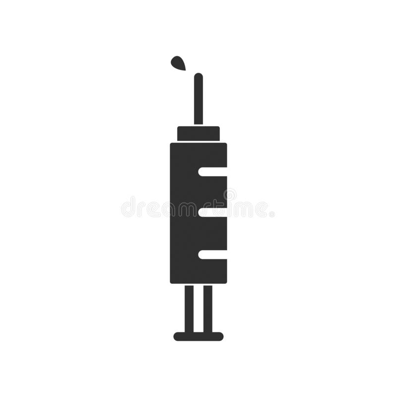 Injection syringe vector icon isolated 3 royalty free illustration