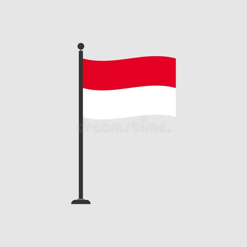 Stock vector monaco flag 4 royalty free illustration