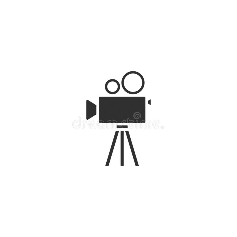 Movie film camera icon outline isolated 3 stock illustration