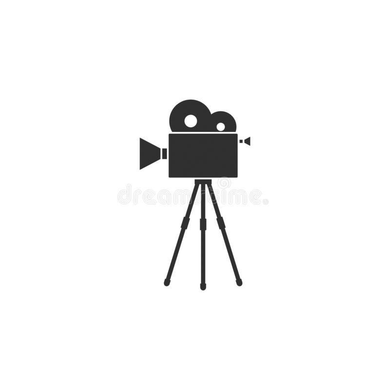 Movie film camera icon outline isolated 7 stock illustration