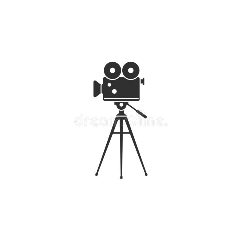 Movie film camera icon outline isolated 5. Stock vector movie film camera icon isolated on white background vector illustration