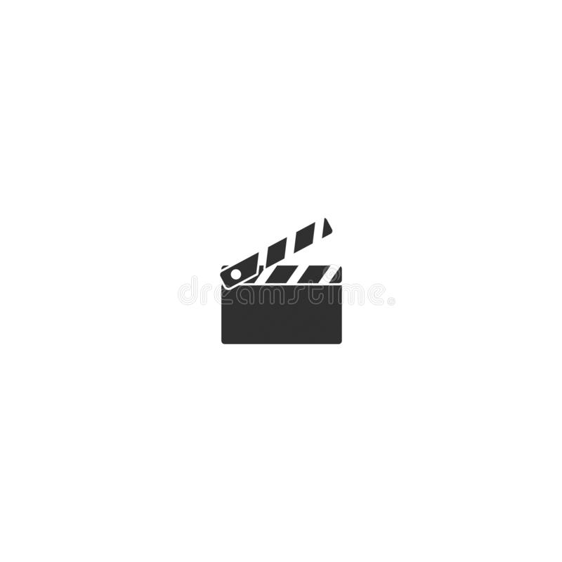 Movie film camera icon outline isolated 4 royalty free illustration