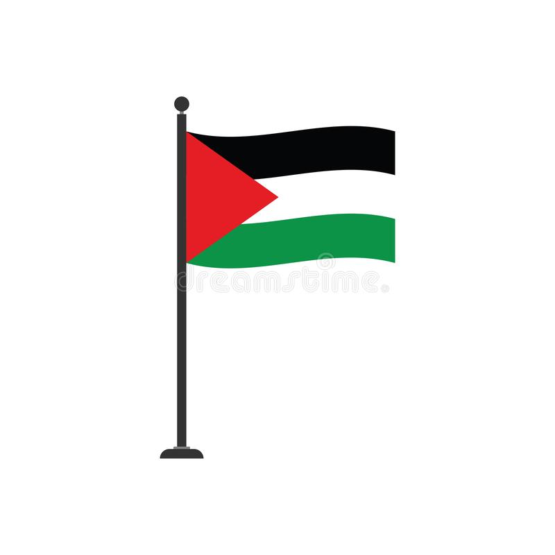 Stock vector palestine gaza flag icon 4. Stock vector flag country in the world islated on white background royalty free illustration