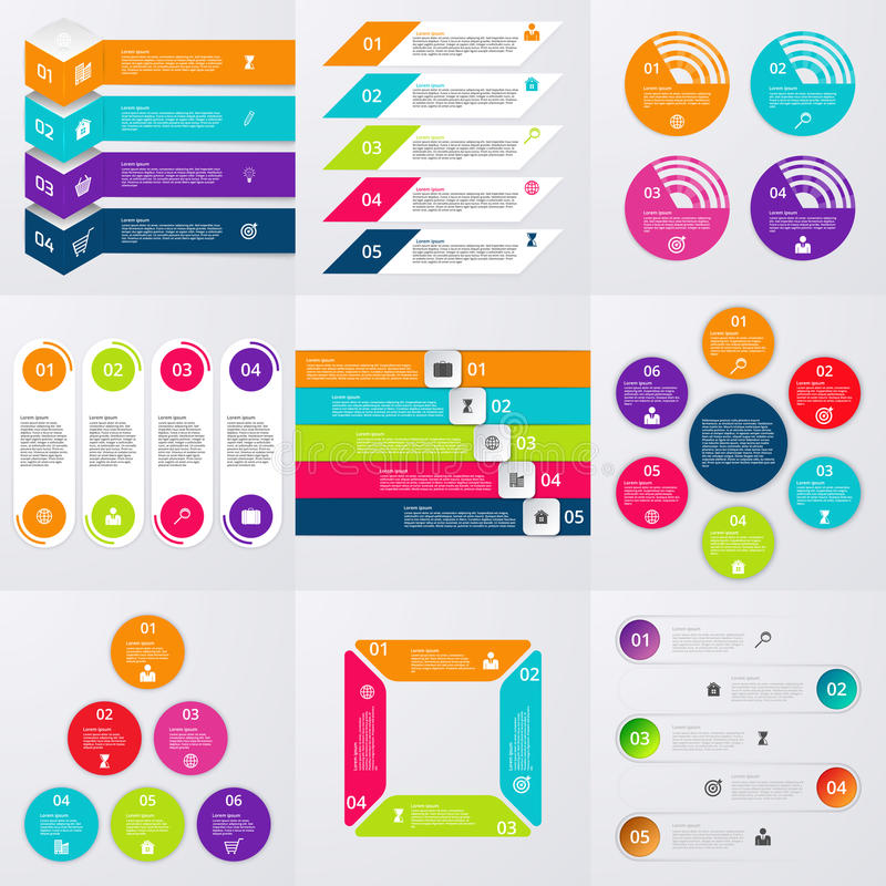 Stock Vector set of infographics vector illustration
