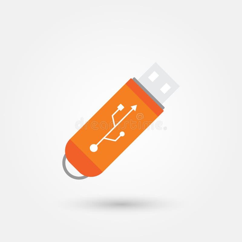 Stock vector usb flash drive vector icon vector illustration