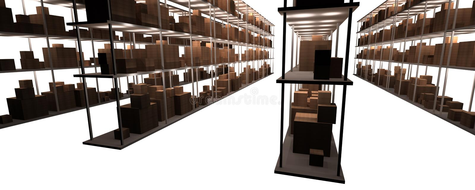 Stock and warehouse shelves