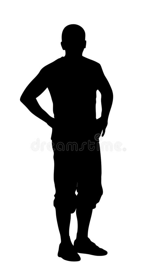 Young man silhouette. Stock Young man silhouette royalty free illustration