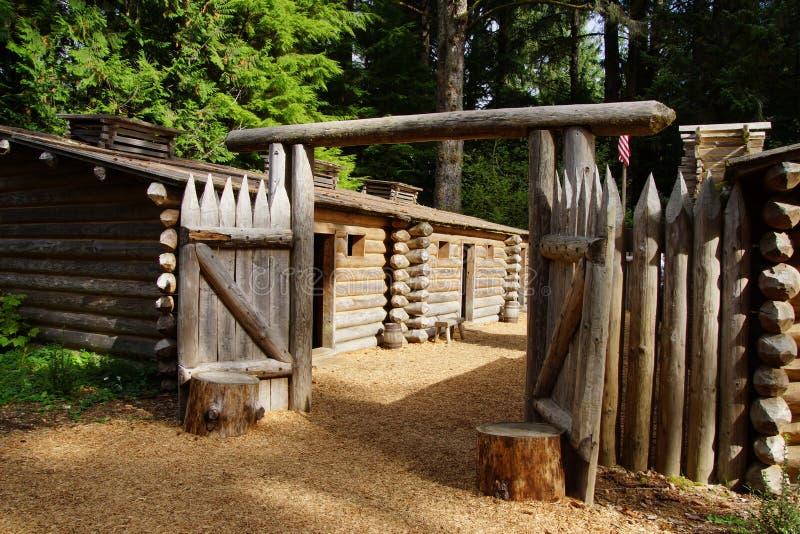 Stockade ogrodzenie fort Clatsop obraz royalty free