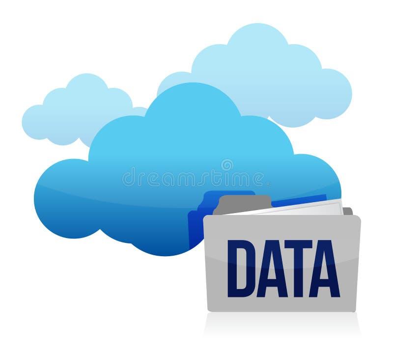 Stockage de données de nuage et de dépliant illustration de vecteur