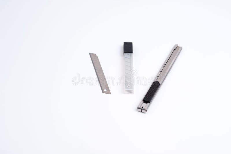 Stockage de lame de coupeur de boîte de couteau image libre de droits