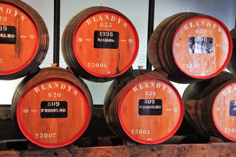Stockage de vin cher Madère de vintage images stock