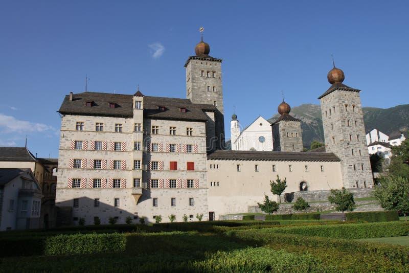 Stockalper城堡 免版税图库摄影