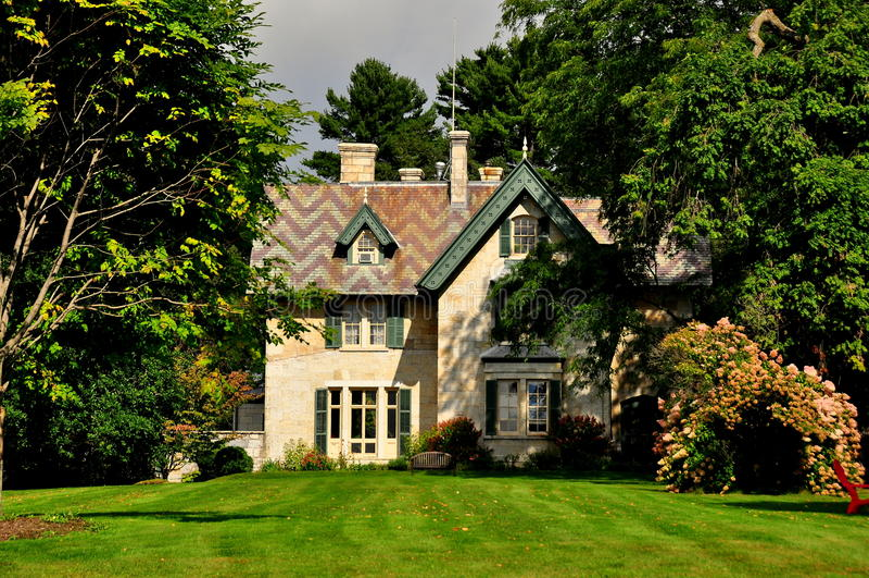 Stockbridge, mA: Linwood Cottage imagen de archivo