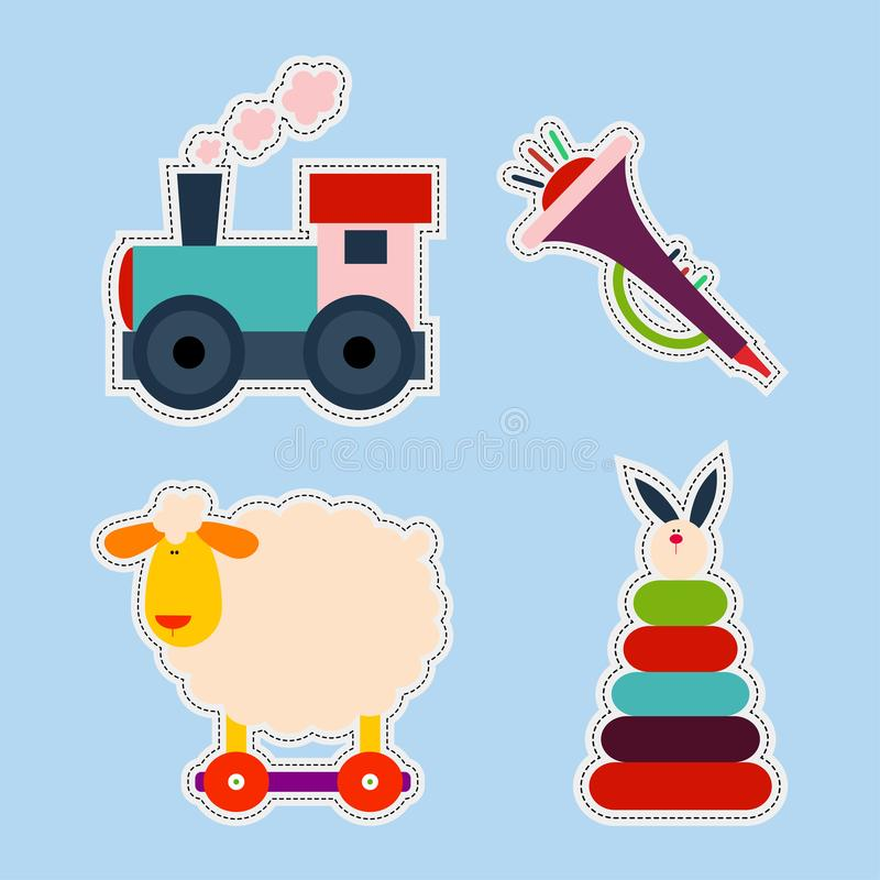 Stockers игрушки ребенк иллюстрация штока