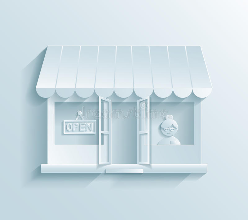 Stockez l'icône de papier illustration de vecteur
