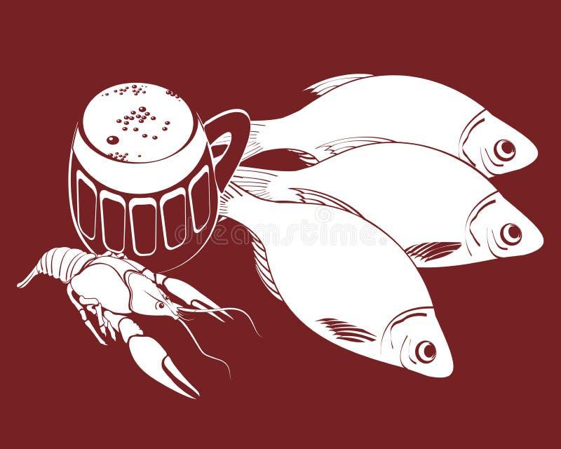 Stockfish y oso ilustración del vector