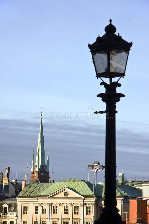 Stockholm. Gamla Stan, the old center of Stockholm royalty free stock photography