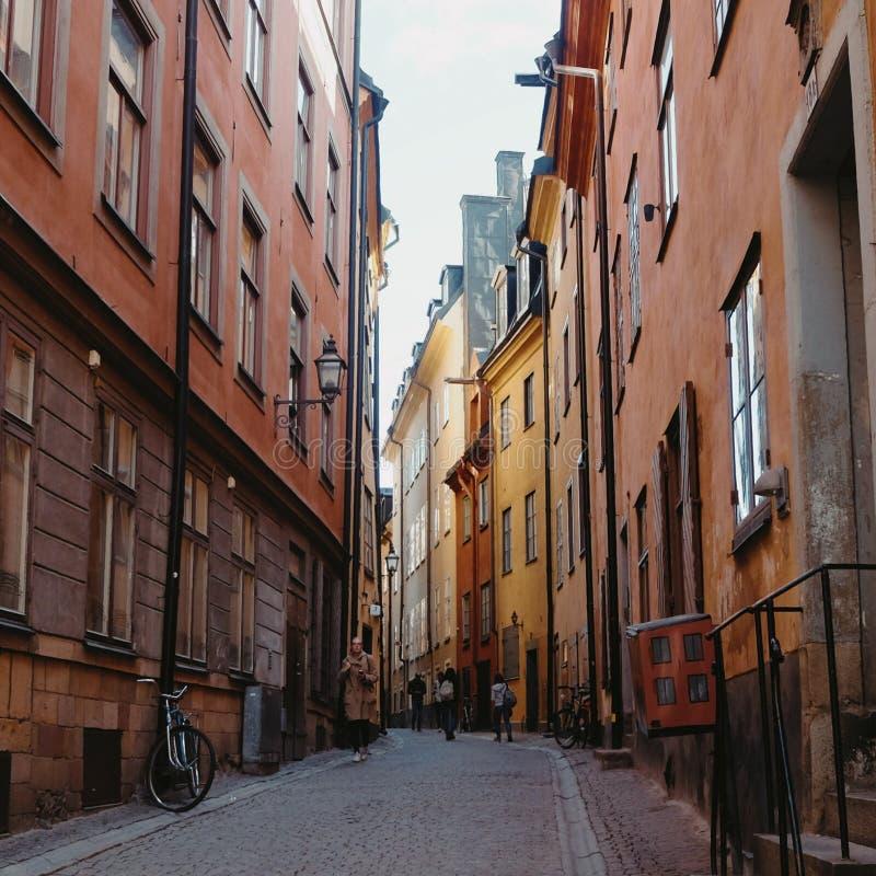 Stockholm-alte Stadt stockbild
