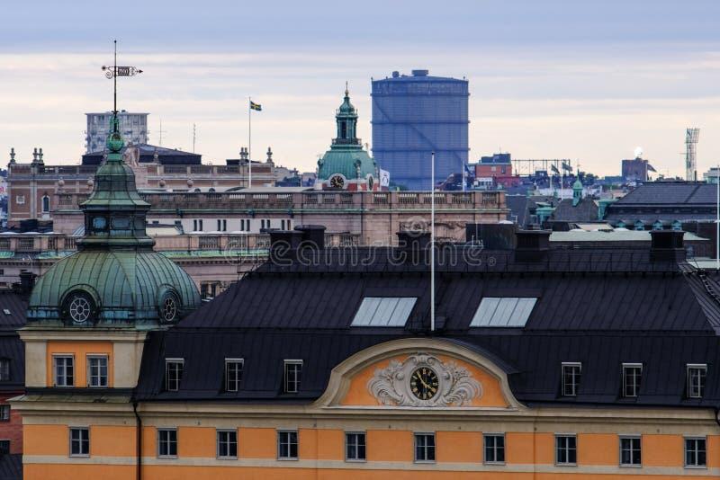 Stockholm-, alte und neuearchitektur lizenzfreies stockbild