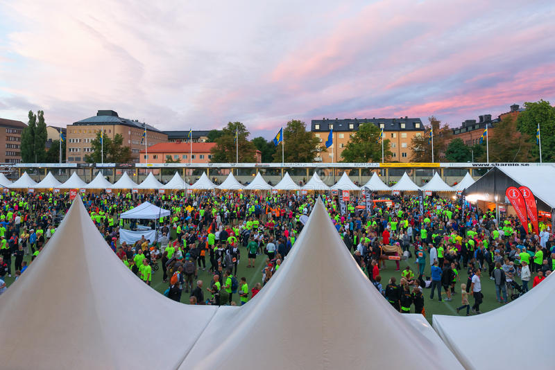 Download STOCKHOLM - AUG, 17: People Gathering Before The Midnight Run (M Editorial Stock Image - Image: 33035119