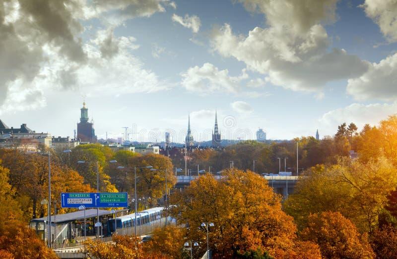 Stockholm in autumn stock photo