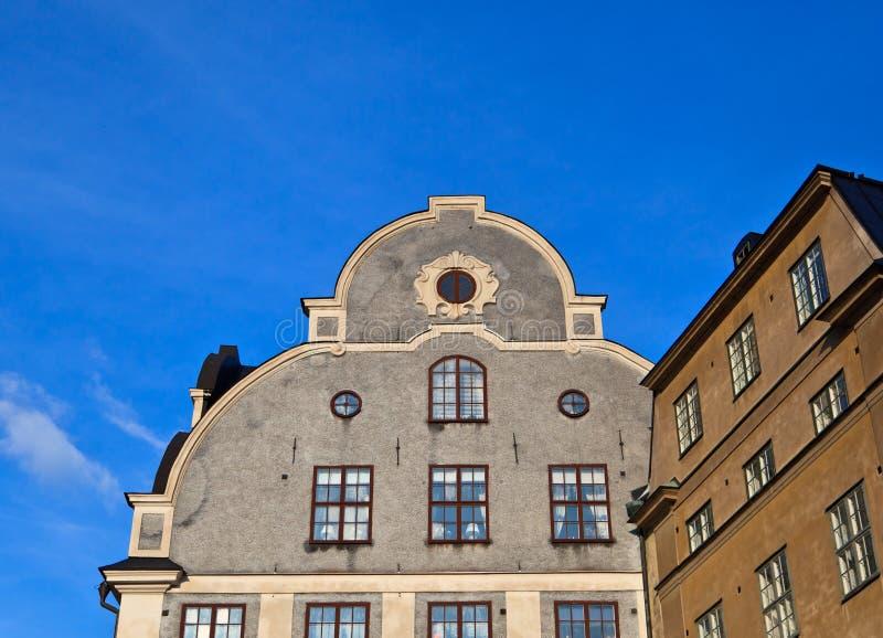 Stockholm building facade stock photo