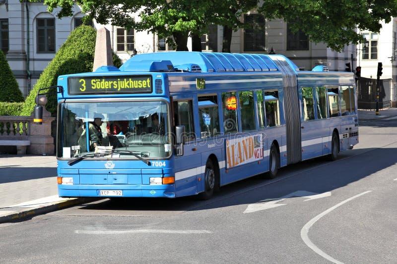 Stockholm bussar arkivbild