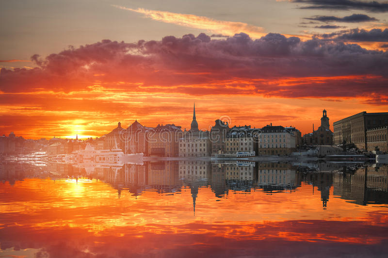 Stockholm is the capital Sweden. Stockholm is the capital and largest city in Sweden stock image