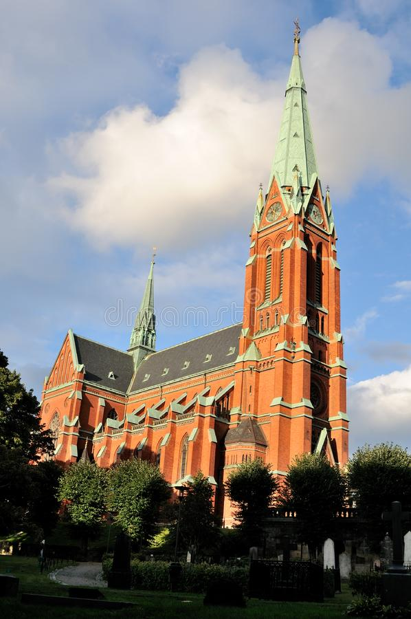 Stockholm cathedral stock photography