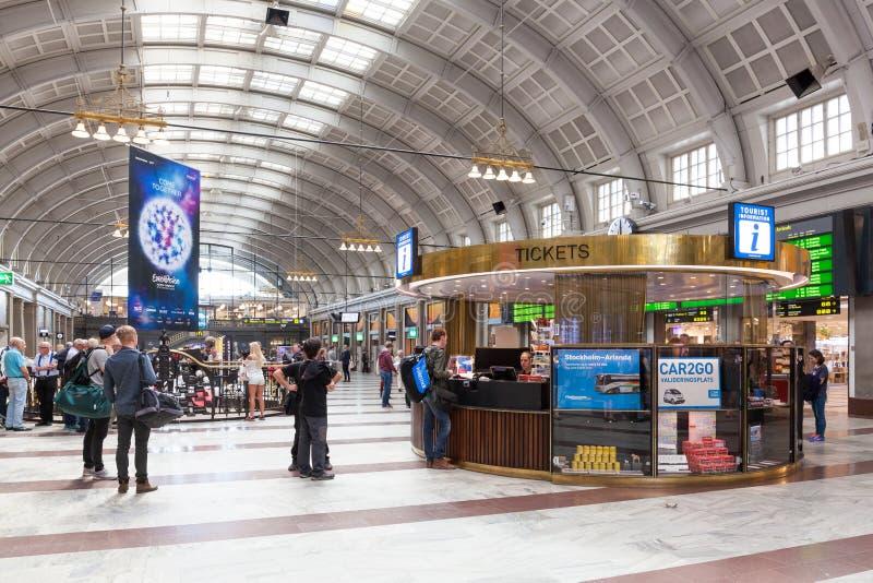 Stockholm centralstation royaltyfri foto