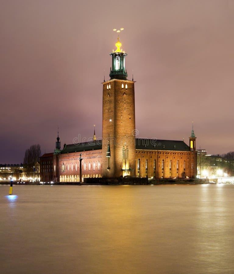 Stockholm city hall stock image