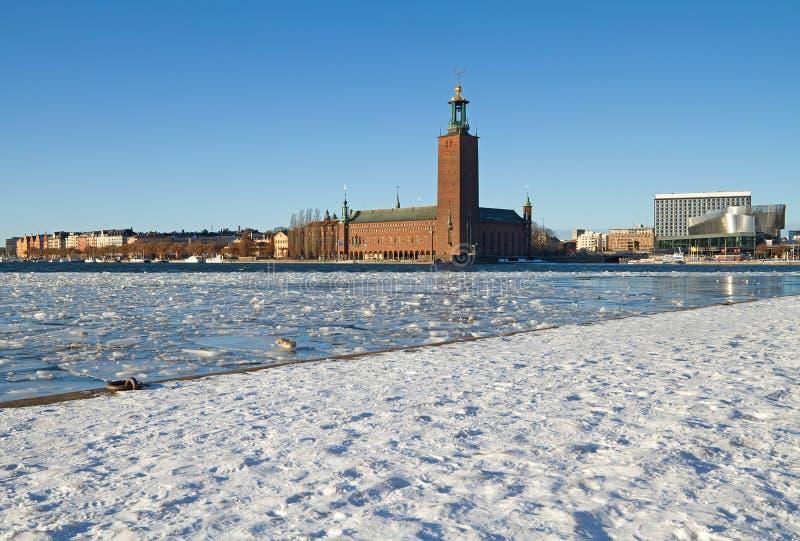 Download Stockholm City hall. stock photo. Image of embankment - 26296766