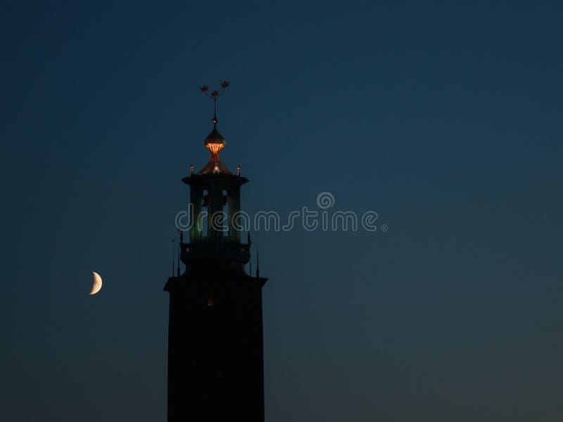 Stockholm City Hall at night stock photos