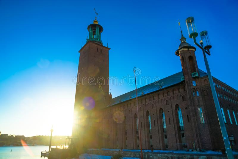 Stockholm City Hall Sweden royalty free stock photos