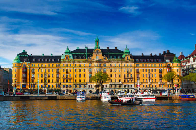 Stockholm city view royalty free stock photos