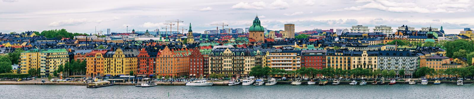 Stockholm city view royalty free stock photo