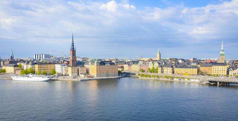 Stockholm city view on a sunny day stock photography