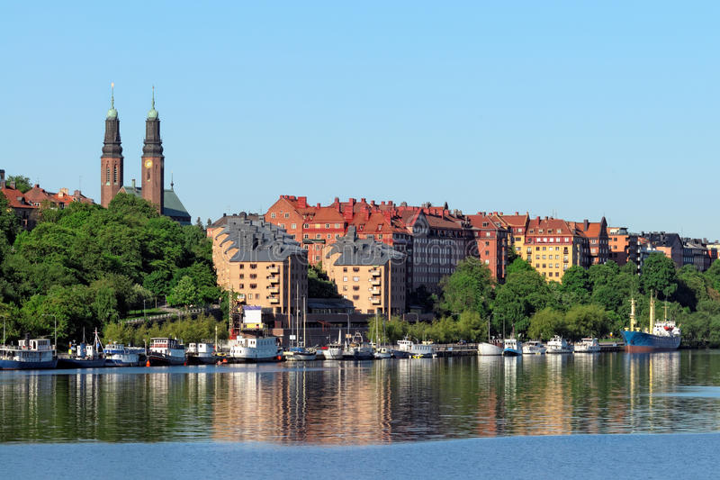 Stockholm Coastline Royalty Free Stock Photography