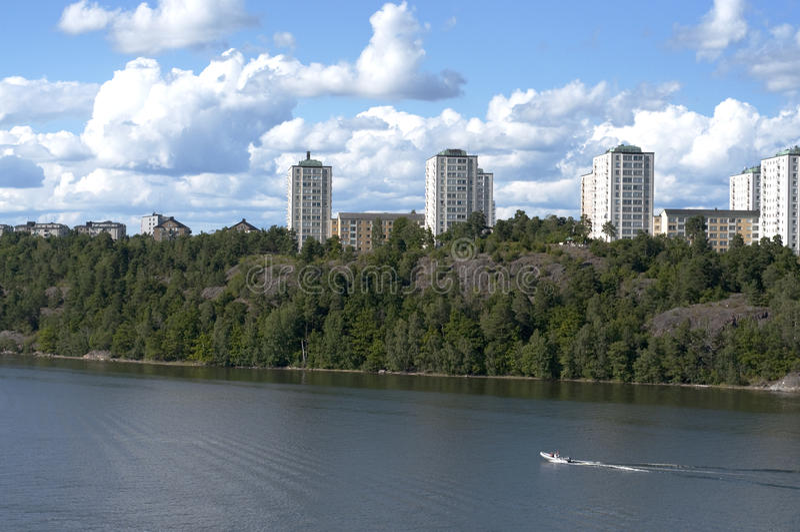 Download Stockholm Coastline Condominiums Stock Image - Image: 10938167