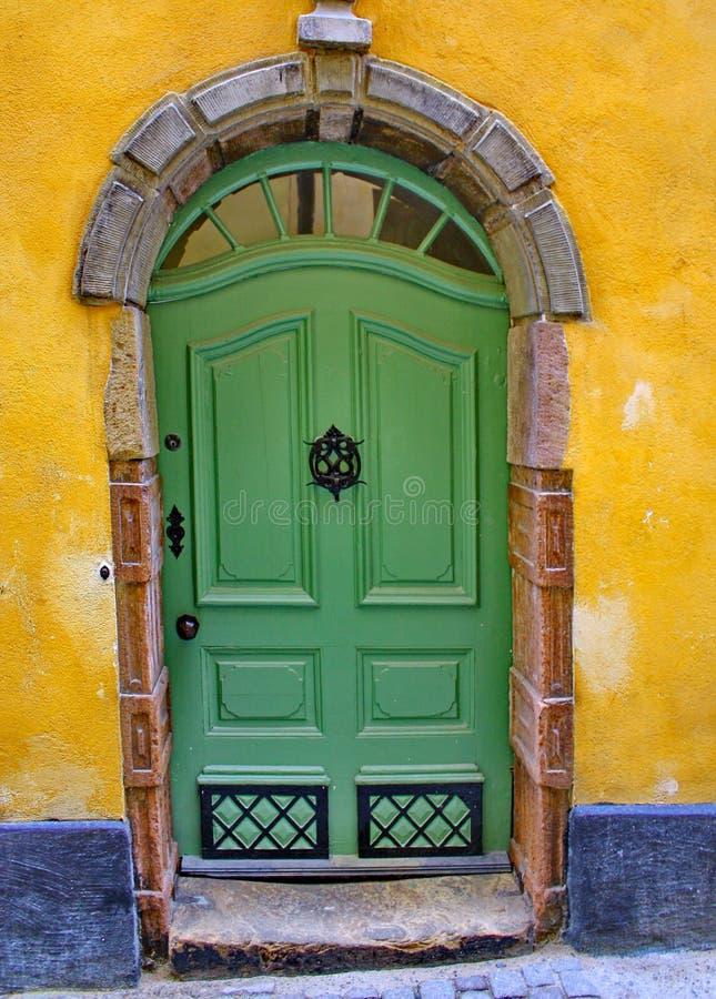 stockholm drzwiowa ulica Sweden fotografia stock