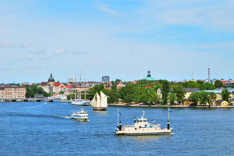 Stockholm an einem sonnigen Tag des Sommers stockfoto