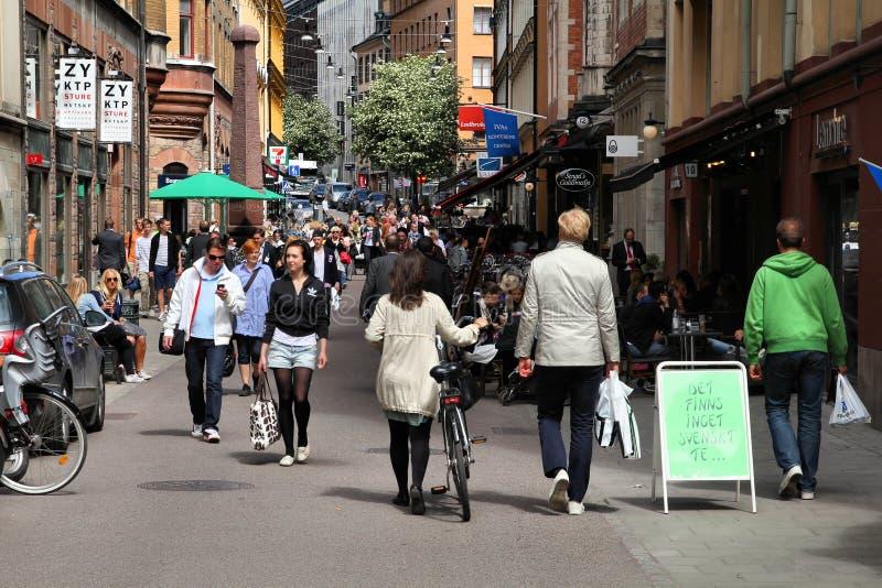 Stockholm-Einkaufen stockbilder