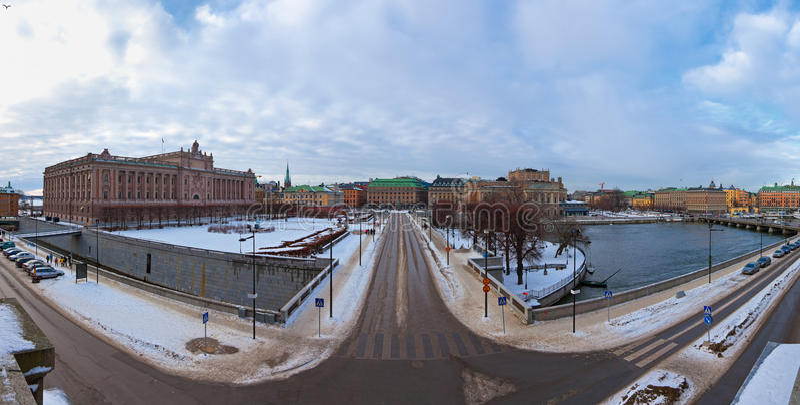 Stockholm en hiver photographie stock