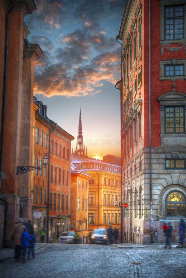 Stockholm est la Suède capitale image libre de droits