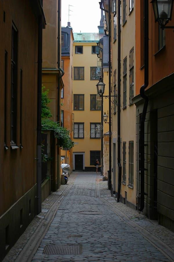 Stockholm-Gasse lizenzfreies stockfoto