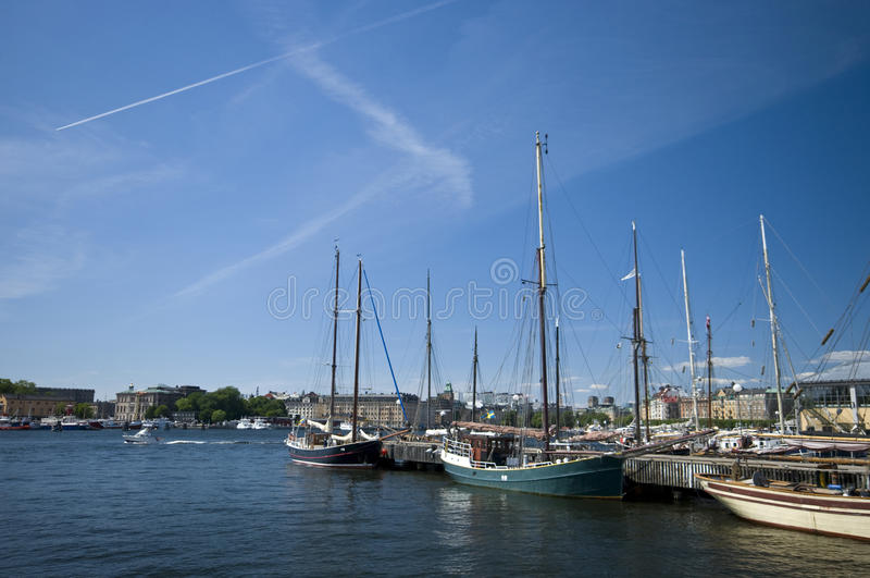 Stockholm-Hafen stockbild